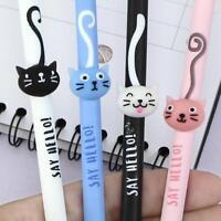 1/2/5/10pcs Cute Cat Tail Gel Pen 0.5mm Black Ink Office Pens Student Stati P3M5