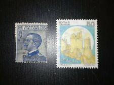 Regno/Repubblica Varietà - Coppia di Francobolli in 2 Rare Varietà di Stampa