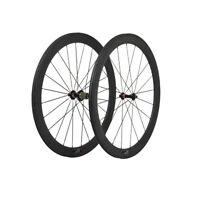 Carbon 27mm Rim Clincher 86mm Tubular Wheel Road Bike Part 700C Black Hub Spoke