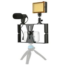 PULUZ 3 in1 Live Broadcast LED Studio Light Smartphone Video Rig Kits Microphone