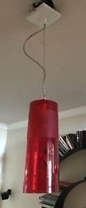 Kartell Easy 9010W3 Ceiling Lamp Transparent Red