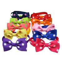 Polka Dots Pet Dog Cat Bowtie Adjustable Ribbon Collars Pet Dog Necktie Bow tie