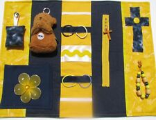 Yellow Prayer Fidget Quilt, Alzheimers' Quilt,  - Holiday Price Drop!