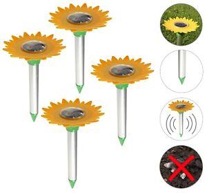 Solar Maulwurfvertreiber Tiervertreiber Vergrämung Wülmaus Maus Schreck Set
