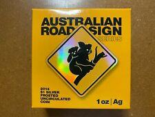 More details for 2014 royal australian mint - road sign series koala 1oz silver coin