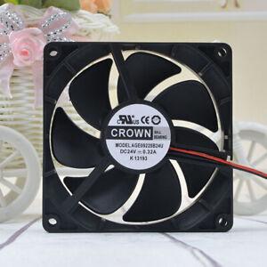 1pc CROWN AGE09225B24U 9225  24V 0.32A 9cm Large Air Volume Inverter Cooling Fan