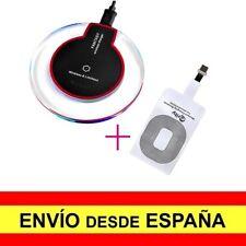 Base Cargador Inalámbico Negro + Adaptador Compatible para iPhone a3538/a3540