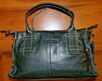 Frye Oiled Leather Satchel / Purse in Black - Pre-Owned - 80100220 - J14