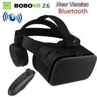 Bluetooth 3D VR Headset Glasses Virtual Reality With Remote For iPhone Android