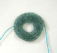 "BLUE GREEN KYANITE faceted rondelle beads AA+ 2.5-4.5mm 16"" strand"