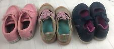 Kids Size 10 Shoes-girls- Lot Of 3 Used