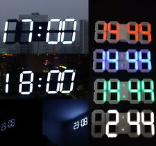 3D LED Large Big Digital Wall Clock Skeleton Modern Design HomeDecor Alarm Timer