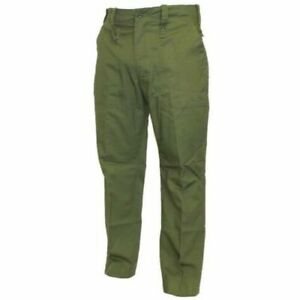 British army lightweight olive green work trousers, cadets, army, grade 1