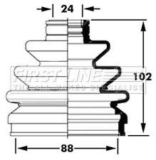 First Line Driveshaft Bellow CV Joint Boot Kit FCB2397 - 5 YEAR WARRANTY