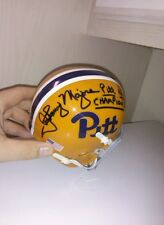 Johnny Majors Matt Cavanaugh Pittsburgh Panthers Signed Throwback Helmet Proof