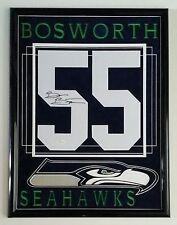 Brian Bosworth Signed Autographed Jersey Number Seattle Seahawks Framed JSA
