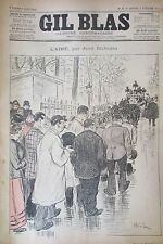 JOURNAL GIL BLAS N° 6 de 1893 RICHEPIN DESSIN STEINLEN PARTITION MUSIQUE BLETRY