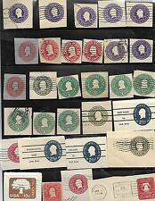 United States Vintage collection of Mixed cut sqares 1880's  lot