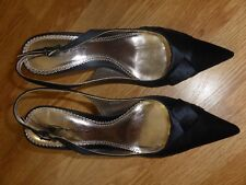 BN MID HEEL POINT SLING PLEAT DETAIL BUTTERCUP SHOES SIZE 6 UK 39 EUR