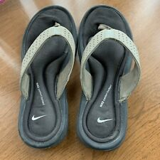 Nike Women's Comfort Footbed Thong Sandal Brown Size 7W