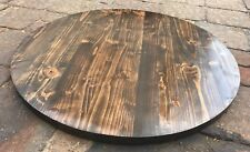 Rustic Reclaimed Wood Round Table Bar Restaurant Farmhouse Rustic Shabby Chic