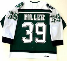 RYAN MILLER MICHIGAN STATE SPARTANS GREEN AUTHENTIC JERSEY VANCOUVER CANUCKS