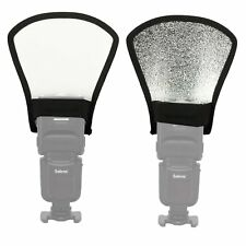 Universal Silver / white Flash speedlite Reflector Bounce Card Diffuser