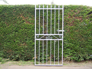 Iron flat top gate for 3 ft 6 ins opening fully galvanized stands 6 ft tall L /H
