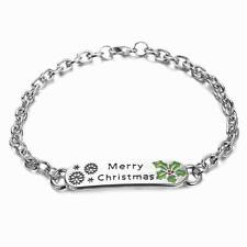 "Christmas Chain Bracelet J&J Broâ""¢ Christian Merry"