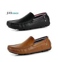 Mens Casual Slip On Shoes Comfort Loafers Smart Walking Driving Moccasin UK Size