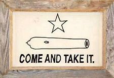 "Texas Gonzales Framed Barnwood Flag 20""x28"" (Come and Take It)"