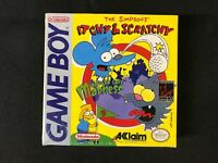 Itchy & Scratchy in Miniature Golf Madness Nintendo Game Boy New Sealed