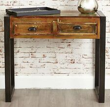 Agra reclaimed wood furniture console hallway hall table