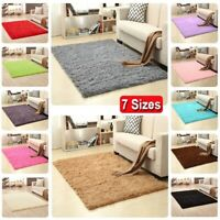Rugs Bedroom Floor Rug Shaggy Area Living Room Mat Anti-Skid Carpet Fluffy Soft