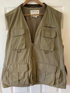 Orvis Fly Fishing Traditional Longer Vest, 100% Cotton XXL In Great Condition