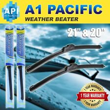"All season Bracketless J-HOOK Windshield Wiper Blades OEM QUALITY 21"" & 20"""