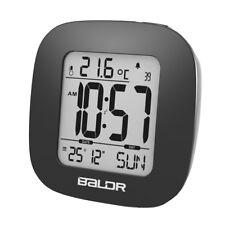 Baldr White Mini Snooze Alarm Clock Digital Calendar Temperature Backlight Clock