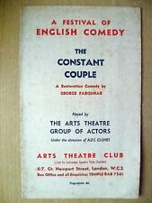 Arts Theatre Club- THE CONSTANT COUPLE by George Farquhar