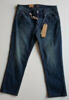 ESPRIT Blue Medium Rise Skinny Cropped Stretch Jeans Size 28 BNWT