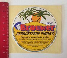 Pegatina/sticker: Brouwer-geroosterde Pinda 's (04061614)