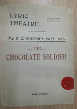 .1911 LYRIC THEATRE PROGRAMME - THE CHOCOLATE SOLDIER