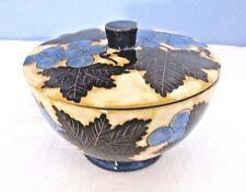 Italien Majolika Soft Paste Keramik abgedeckt Schüssel mit Deckel Albisola Capo