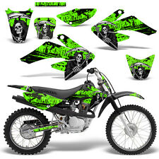 Honda CRF70 CRF80 CRF100 Decal Graphics Kit MX Dirt Bike Sticker Wrap REAP GREEN