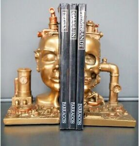 Steampunk Bookends - Stylish Bookends Creative Desk Tidy