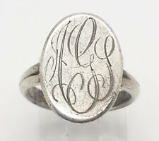 Vintage AGS Initials Monogram Sterling Silver 925 Ring 5g Sz.6.5 Y2261