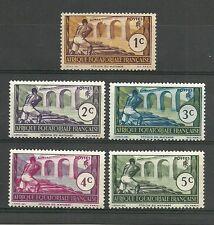 """Afrique Equatoriale Française 1937 """" Région du MAYUMBE""""  5 timbres neufs* (7041)"""