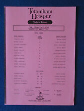 REAL MADRID V INTER MILAN - 27/4/93 - Fiorucci Cup-teamsheet-a Tottenham