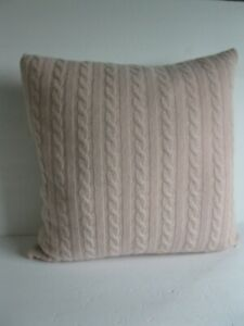 New Magaschoni Home SOFT 100% Cashmere Pink Cable Decorative THROW Pillow