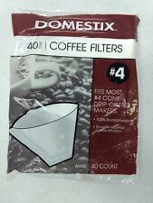 New Domestix #4 Cone Paper Coffee Filters 40 Count - 11 Pack - 440 total filters