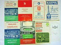 8 X Football Rugby Programmes England, Blackpool, Scotland 1950s 60s 70s Etc.